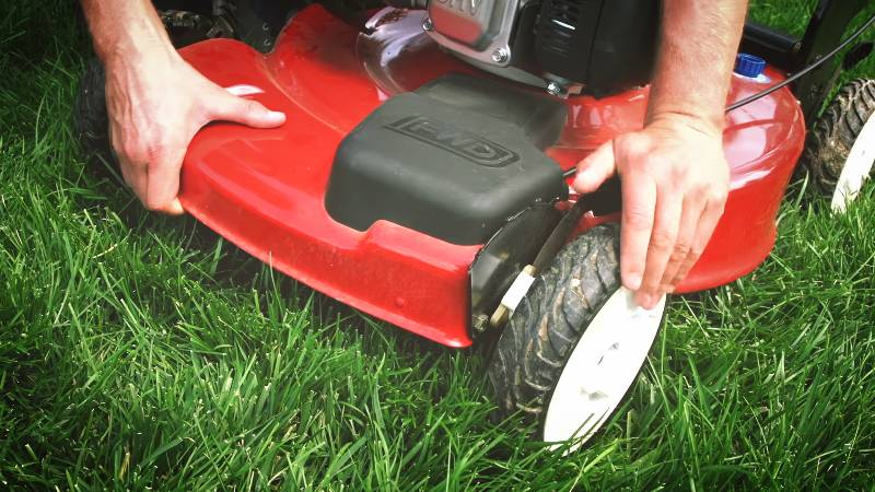 Height Adjustment For Lawnmower