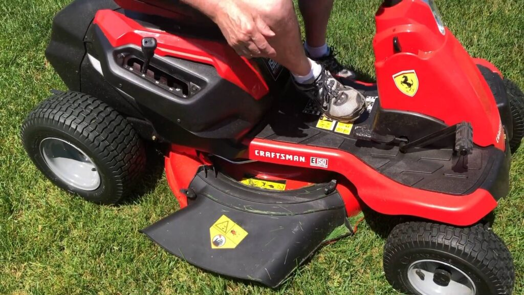 electric riding mower