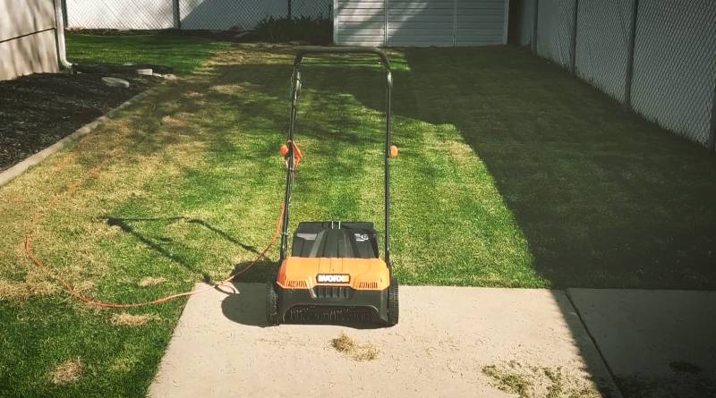 WORX WG850 12A Electric Dethatcher Review-4